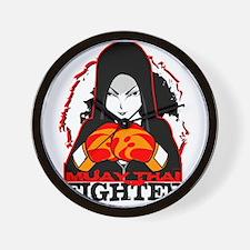 Muay Thai Fighter Wall Clock
