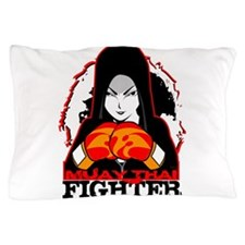 Muay Thai Fighter Pillow Case