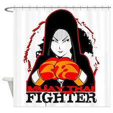 Muay Thai Fighter Shower Curtain