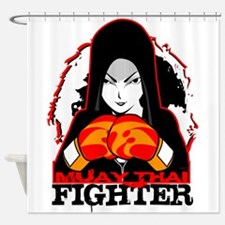 Muay Thai Fighter Shower Curtain