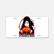 Muay Thai Fighter Aluminum License Plate