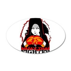 Muay Thai Fighter Wall Decal