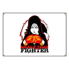Muay Thai Fighter Banner
