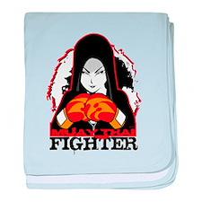 Muay Thai Fighter baby blanket