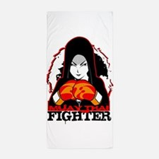Muay Thai Fighter Beach Towel