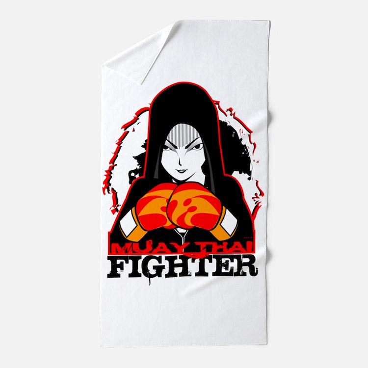 Muay Thai Fighter Beach Towel
