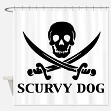 Scurvy Dog Shower Curtain