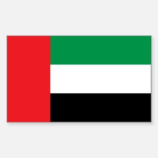 UAE Flag Sticker (Rectangle)