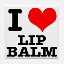 I Heart (Love) Lip Balm Tile Coaster
