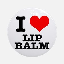 I Heart (Love) Lip Balm Ornament (Round)