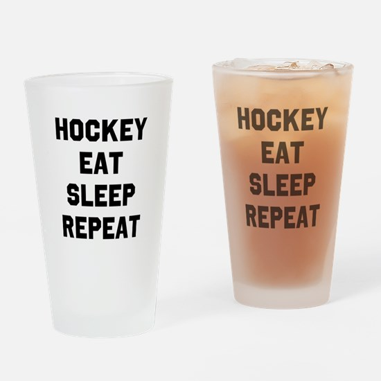 Hockey Eat Sleep Repeat Drinking Glass