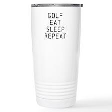 Golf Eat Sleep Repeat Travel Mug