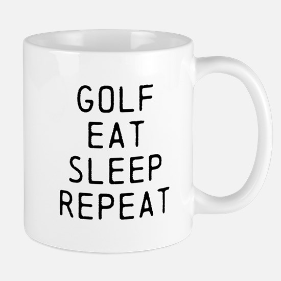 Golf Eat Sleep Repeat Mugs