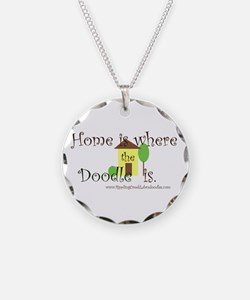 Home Is Where The Doodle Is Necklace