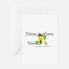 Home Is Where The Doodle Is Greeting Cards
