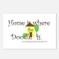 Home Is Where The Doodle Is Postcards (Package of