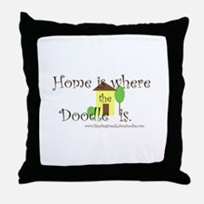 Home Is Where The Doodle Is Throw Pillow