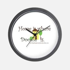 Home Is Where The Doodle Is Wall Clock