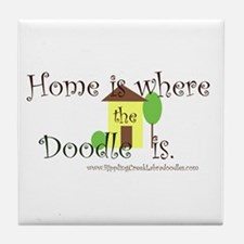 Home Is Where The Doodle Is Tile Coaster