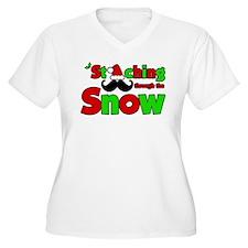Staching Through the Snow Plus Size T-Shirt