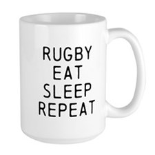 Rugby Eat Sleep Repeat Mugs