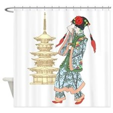 Pagoda Princess Shower Curtain