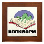 Bookworm Book Lovers Framed Tile