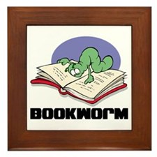 Bookworm Book Lovers Framed Tile