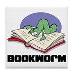 Bookworm Book Lovers Tile Coaster