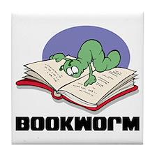 Bookworm Book Lovers Tile Coaster