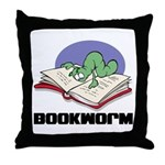 Bookworm Book Lovers Throw Pillow