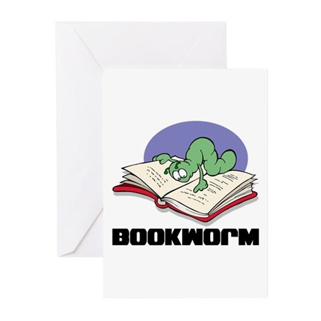 Bookworm Book Lovers Greeting Cards (Pk of 10)