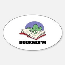 Bookworm Book Lovers Oval Decal