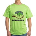 Bookworm Book Lovers Green T-Shirt