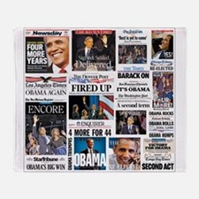 Pro Obama Victory Collage Throw Blanket