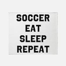 Soccer Eat Sleep Repeat Throw Blanket