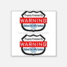 Fake Security Sticker, 2 Stickers (Rectangle) Stic
