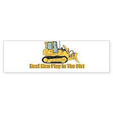 Real Men Play In The Dirt Bumper Bumper Sticker