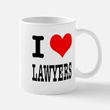 I Heart (Love) Lawyers Mug