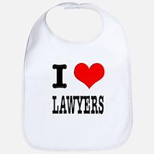 I Heart (Love) Lawyers Bib