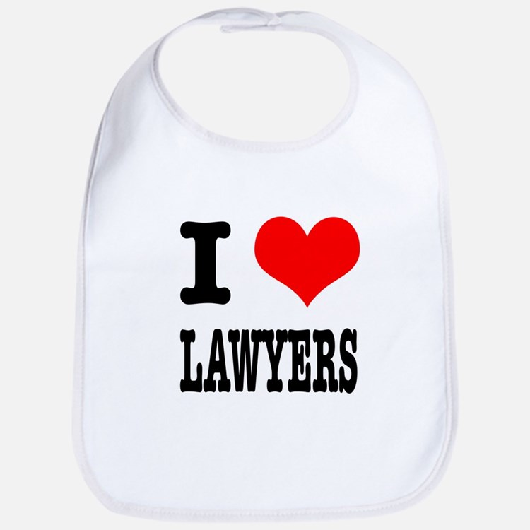 I Heart (Love) Lawyers Bib