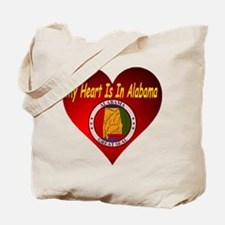 My Heart Is In Alabama Tote Bag