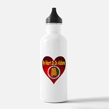 My Heart Is In Alabama Water Bottle