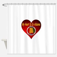 My Heart Is In Alabama Shower Curtain