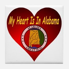 My Heart Is In Alabama Tile Coaster
