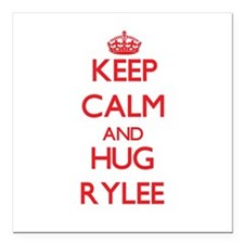 "Keep Calm and Hug Rylee Square Car Magnet 3"" x 3"""