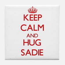 Keep Calm and Hug Sadie Tile Coaster