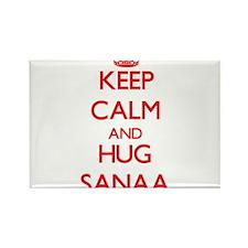 Keep Calm and Hug Sanaa Magnets