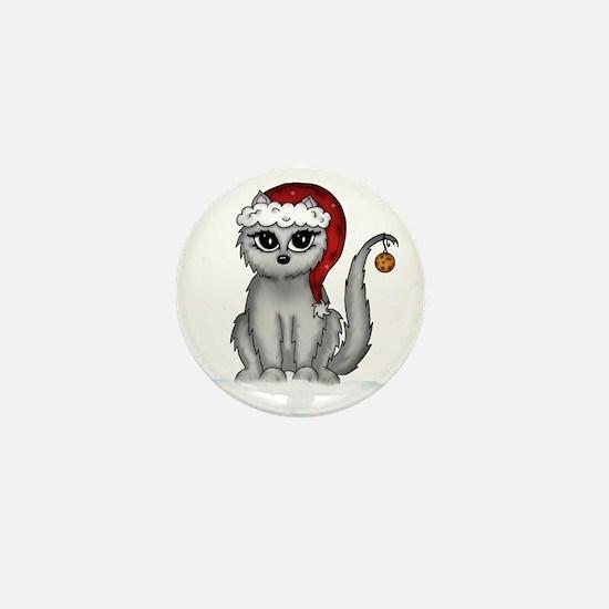 christmas cat Mini Button