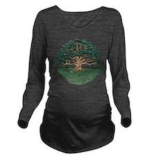The Wisdom Tree Long Sleeve Maternity T-Shirt
